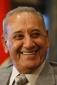 71dfb0411 127 deputies convened on Thursday 25-2009 at Nejmeh Square at 10.00am and  re-elected MP Nabih Berri for a fifth (4-year-term) as parliament speaker  by 90 ...